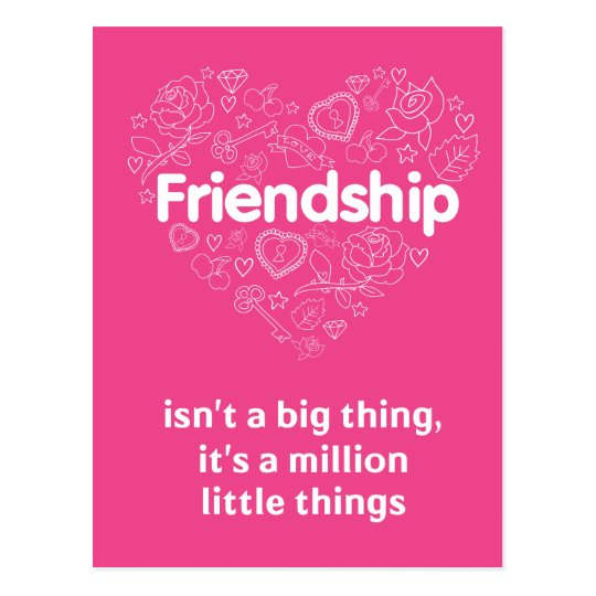 Friendship is a million things cute quote designed