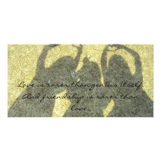 Friendship is Rare Photocard Photo Card Template