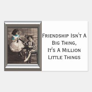 Friendship Isn't A Big Thing Rectangular Sticker