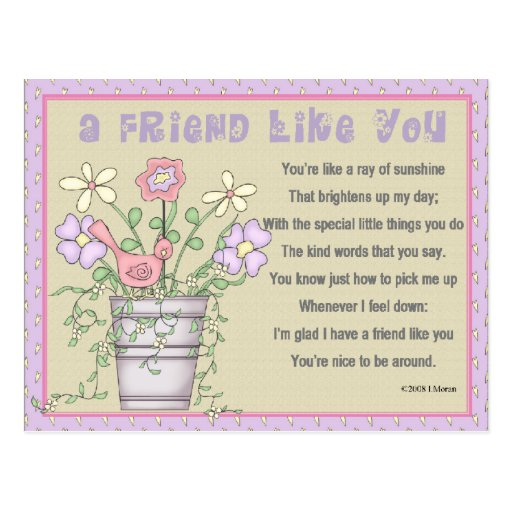 Friendship Keepsake Card Post Card