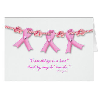 Friendship Knots Against Breast Cancer, Get Well Greeting Card