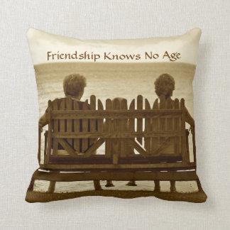 Friendship Knows No Age Cushion
