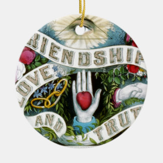 Friendship, Love, and Truth Christmas Ornament