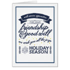 Friendship Navy Card