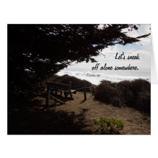 Friendship or Love Card: Private Bench by Ocean Big Greeting Card