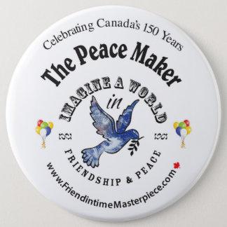 Friendship & Peace 6 Cm Round Badge