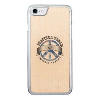 Friendship & Peace Carved iPhone 8/7 Case
