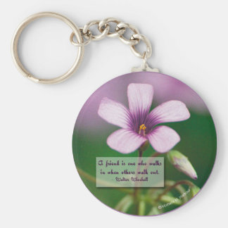 Friendship -  Pink Wood Sorrel Keychain
