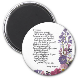 Friendship poem magnet