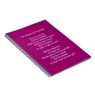 Friendship Poem Note Book Journal