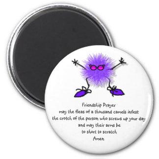 Friendship Prayer 6 Cm Round Magnet