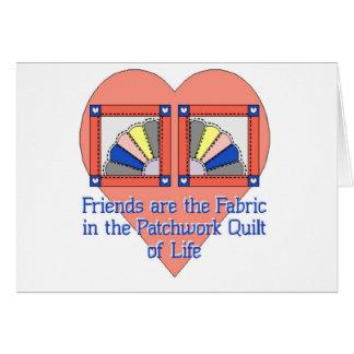 Friendship Quilt Pattern Greeting Card