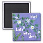 friendship quotation square magnet