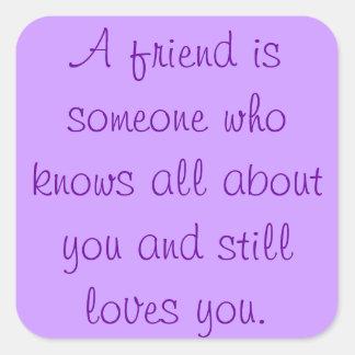 Friendship Quote Sticker