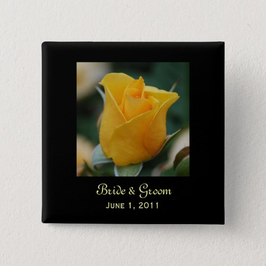 Friendship Rose Bride & Groom Button