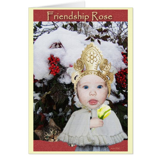 Friendship Rose Card