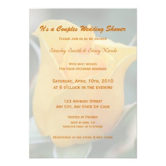 Friendship Rose Couples Wedding Shower Invitation