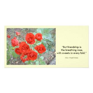 Friendship Rose Customized Photo Card