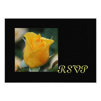 Friendship Rose RSVP cards Invitation
