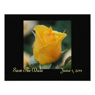 Friendship Rose Save The Date Cards Custom Invites