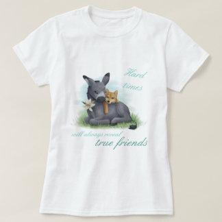 Friendship Shiba Inu & Donkey T-Shirt