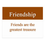 Friendship should be treasured post cards