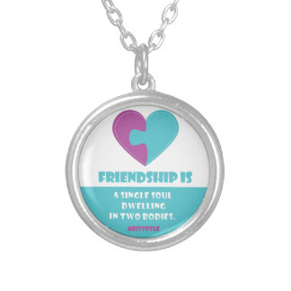 Friendship soul & body designed round necklace