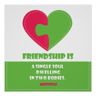 Friendship soul & body nice quote designed poster