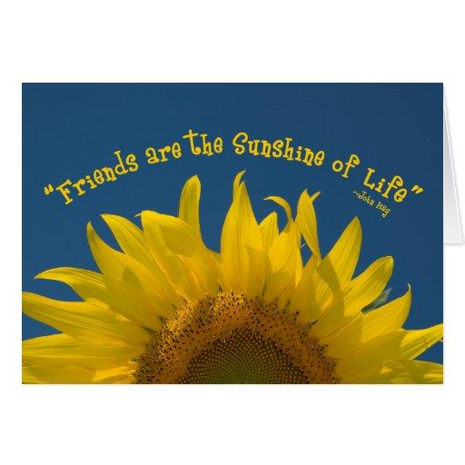Friendship Sunflower Card