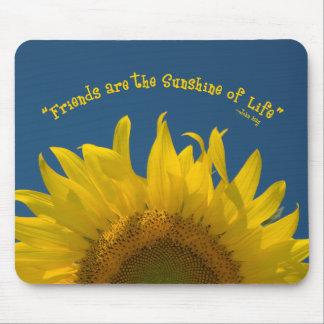 Friendship Sunflower Mouse Mat