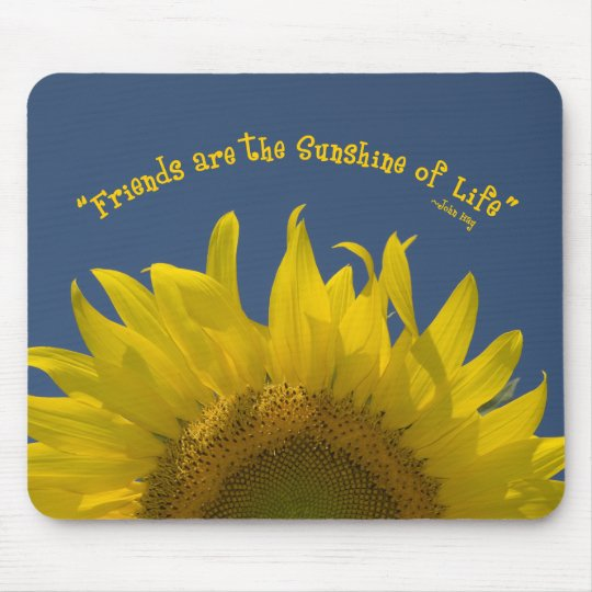Friendship Sunflower Mouse Mat