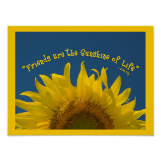 Friendship Sunflower Poster