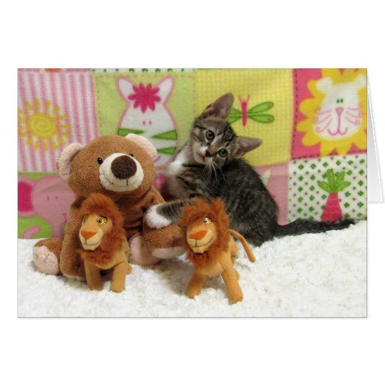 Friendship Tabby Kitty Greeting Card