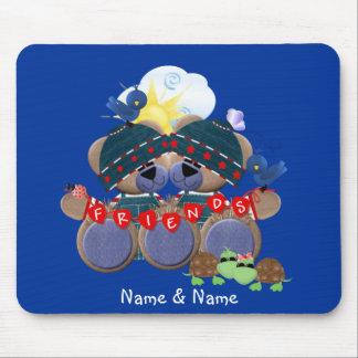 Friendship Teddybears (customized) Mouse Mat