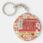 Friendships are like quilts key chains / ring