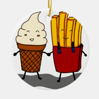 Fries and Ice Cream Christmas Ornament