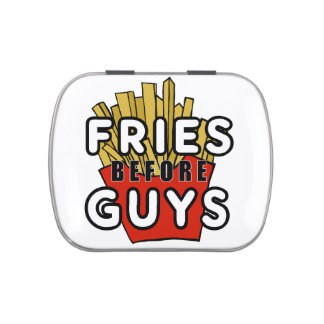 Fries before guys candy tin