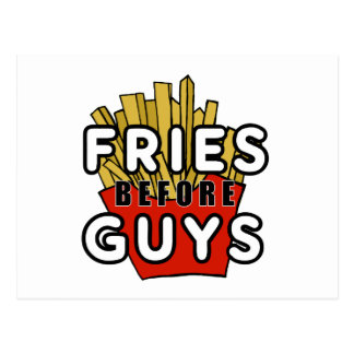 Fries before guys postcard