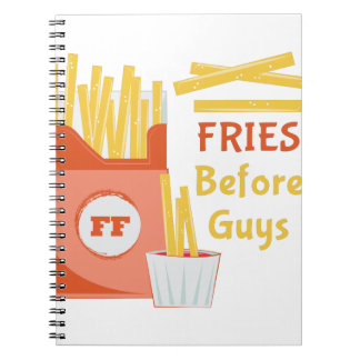 Fries Before Guys Spiral Notebooks