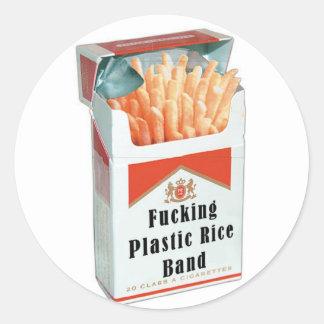 fries round sticker