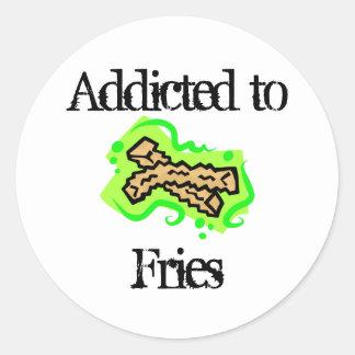 Fries Round Stickers