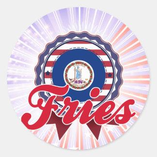 Fries, VA Round Stickers