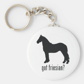 Friesian Basic Round Button Key Ring