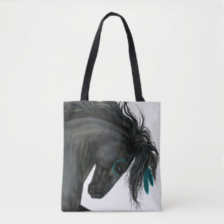 Friesian Black Horse Bag by Bihrle