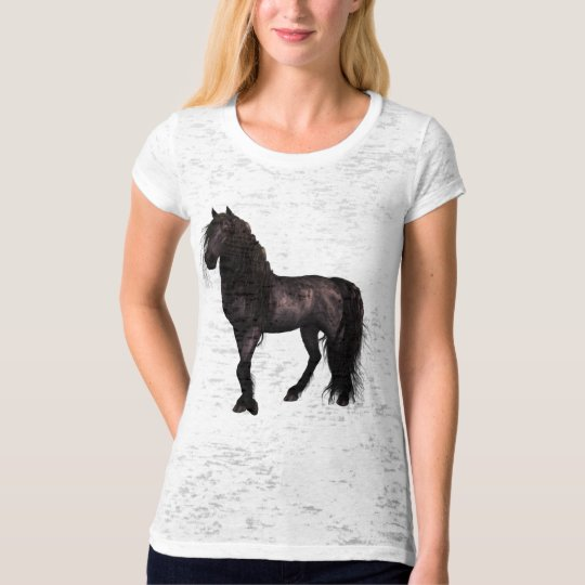Friesian Canvas Fitted Burnout T-Shirt