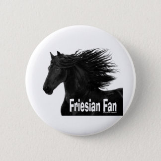 Friesian Fan 6 Cm Round Badge