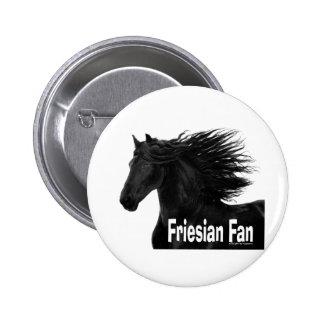 Friesian Fan 6 Cm Round Badge