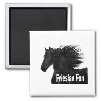 Friesian Fan Square Magnet