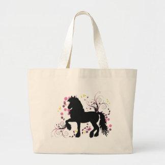 Friesian Horse Canvas Bags
