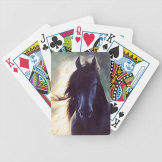 Friesian horse black beauty stallion bicycle poker deck